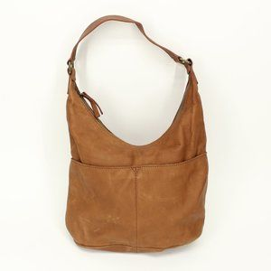 American Leather Co. Tan Leather Hobo Bag